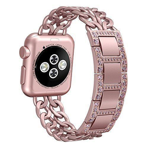 Apple Watch Band iWatch 38mm Strap Premium Stainless Steel Jewelry Bracelet Rose #Kbrand
