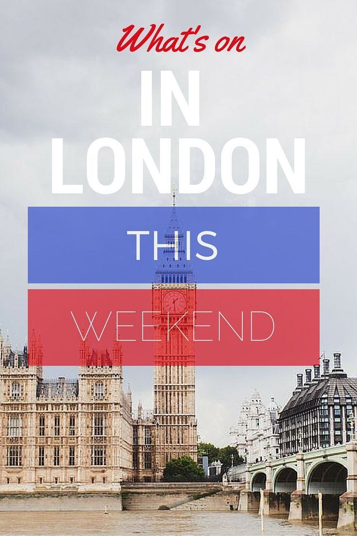 What's On This Weekend In London.  This weekend, London provides us with a little something for everyone. The fabulous Pride In London returns to the big city with an array of festivities for everyone, alongside a plethora of exhibition and restaurant openings throughout London. Whatever your choice is, there are many events to keep cultured minds busy!