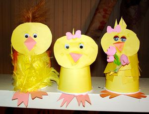 Cute chick craft for April