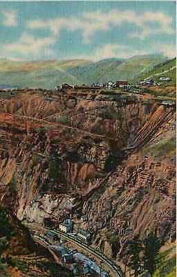 Gilman Eagle River Canon Colorado CO 1935 Empire Zinc Mine Vintage Postcard
