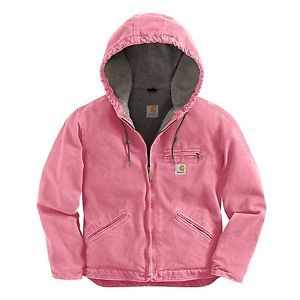 pink+carhartt+coat+for+women | New Carhartt Women's Sandstone Sierra Jacket Pink Rose Sherpa Lined ...