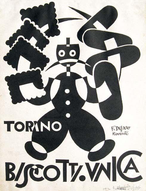 Fortunato Depero - Biscotti Unica Torino, 1927 ca.