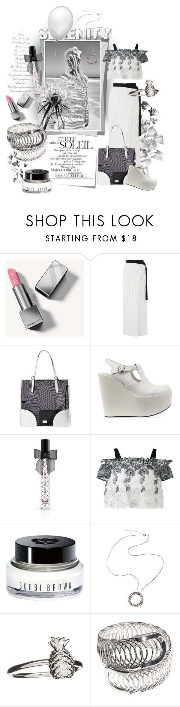 """Serenity #24"" by strawberry-latte ❤ liked on Polyvore featuring Post-It, Burberry, Amanda Wakeley, Frances Valentine, Jil Sander Navy, Victoria's Secret, Blugirl, Bobbi Brown Cosmetics and Rachel Jackson"