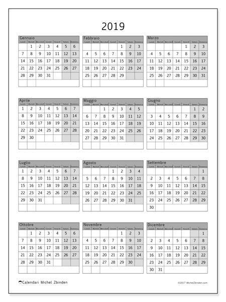 calendario 2019  37ld