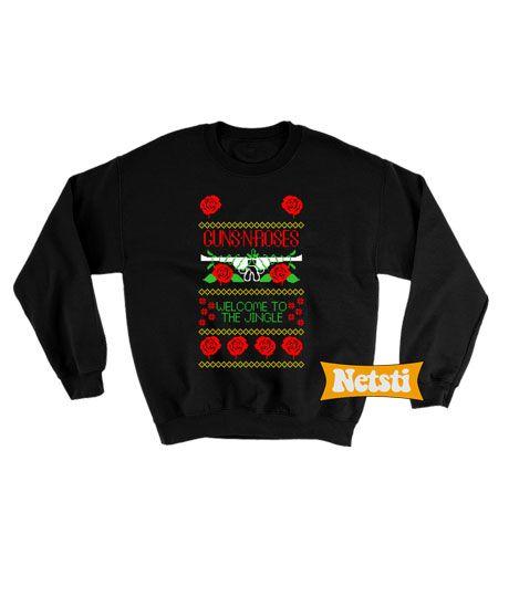 Guns N Roses Welcome To The Jingle Ugly Christmas Sweatshirt This