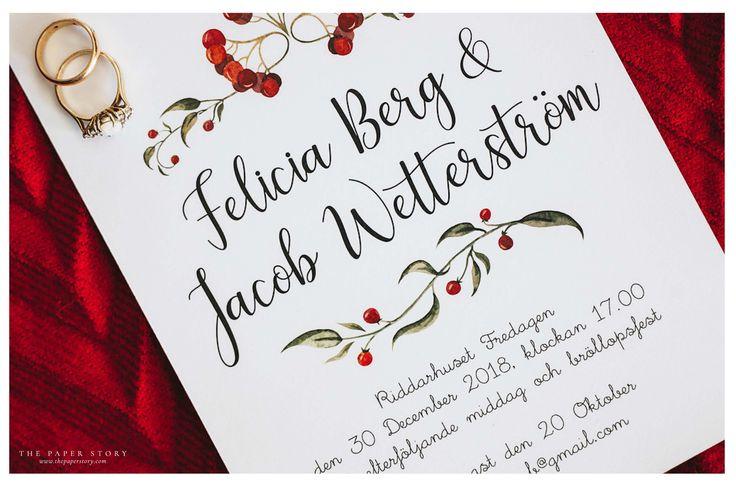 Inbjudningskort med förtrollande bär  Fotograf Michaela Zabel - www.yellowfox.se