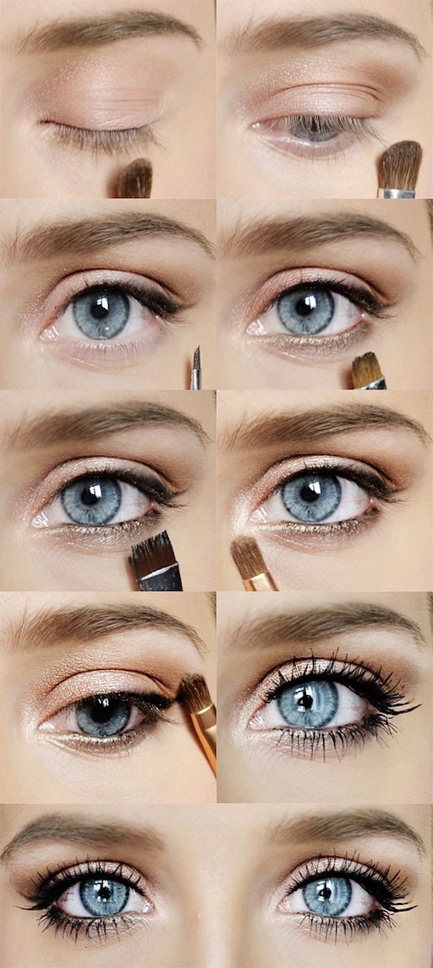 Wedding Makeup Ideas for Brides - Eye Makeup Tutorial for Weddings - Romantic make up ideas for the wedding - Natural and Airbrush techniques that look great with blue, green and brown eyes - rusti evening glow looks - https://www.thegoddess.com/wedding-makeup-for-brides
