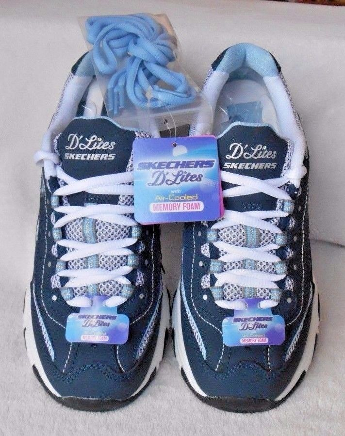 quality design 334c6 0b928 SKECHERS D LITES MEMORY FOAM BIGGEST FAN WOMEN SHOES 11860 NAVY Size 6M New  IOB  Skechers  DLites