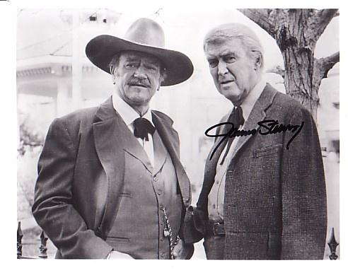 Wayne and Stewart in The Shootist. John Waynes last movie