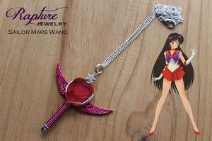 Sailor Mars Wand Pendant Inspired by Sailor Moon