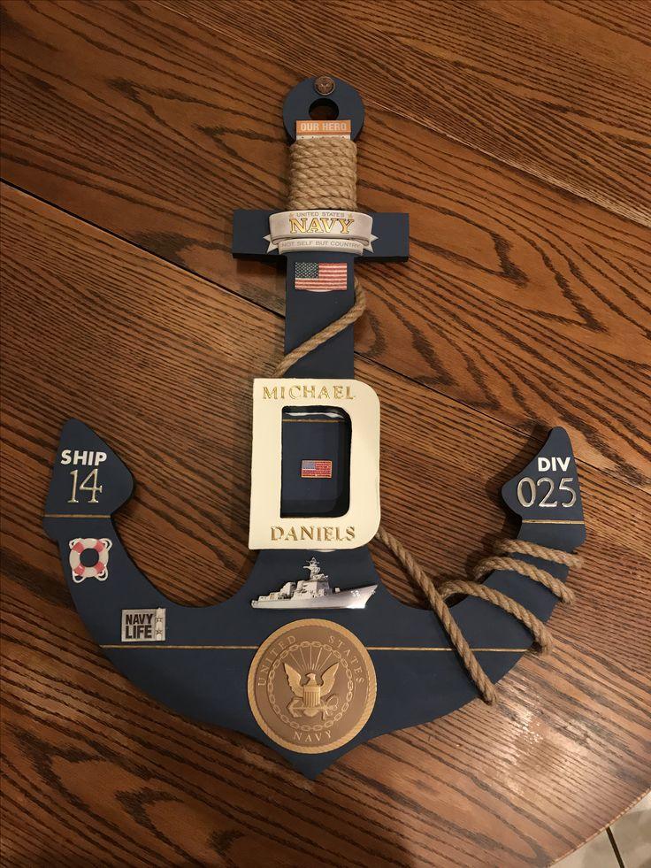 Navy graduation door decoration #Anchor #Navy #PIR #BootCampGraduation