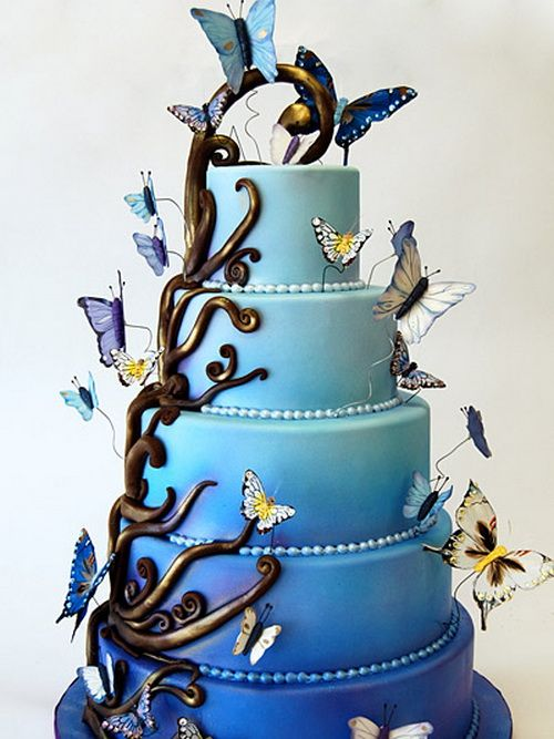 amazing blue wedding cake Amazing Wedding Cakes