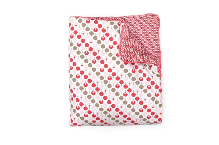 Ella & Otto Cot & Cot Bed Quilt Lollipop Tearose