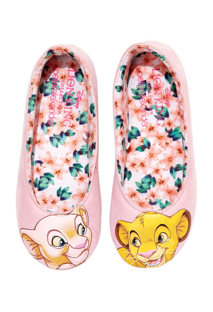 Ladies Lion King Slippers | Peter Alexander
