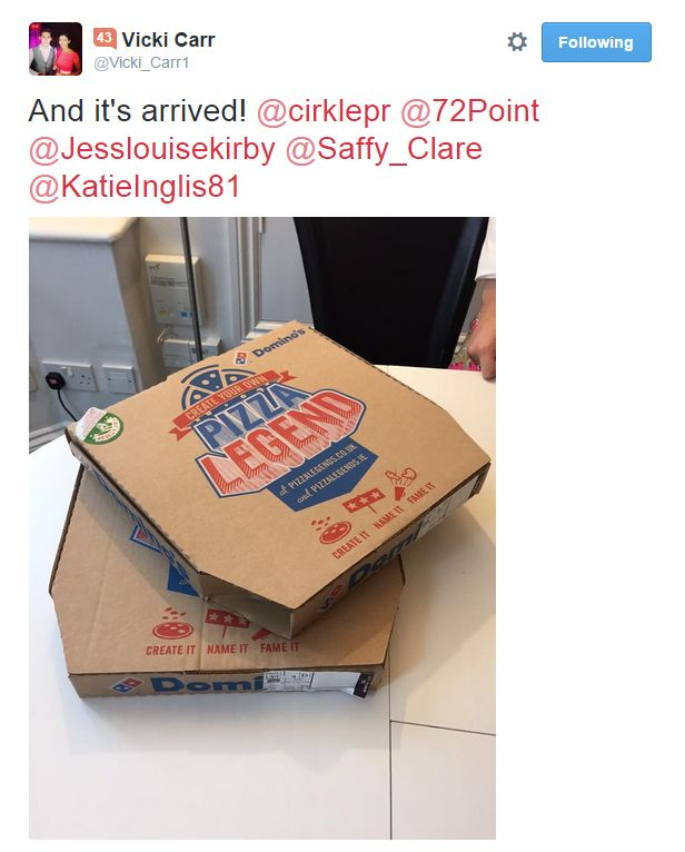 Cirkle PR were very happy with their free pizza #72point #pizza #food