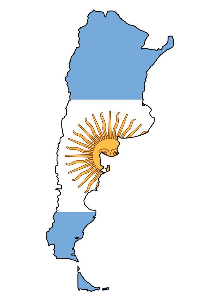 Argentina Flag - Map