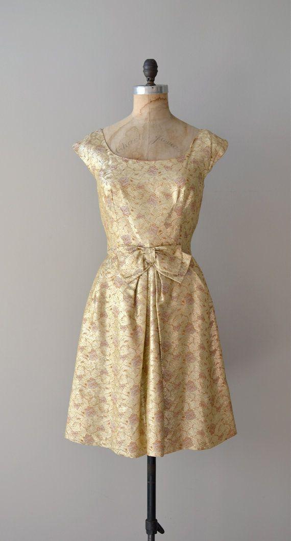 60s dress | Gold Rush party dress