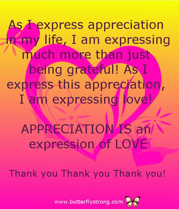 Appreciation is Love ~ Alignment Affirmations
