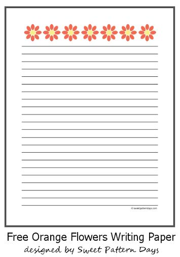 33 best stationery images on Pinterest Free printable, Writing - free handwriting paper template