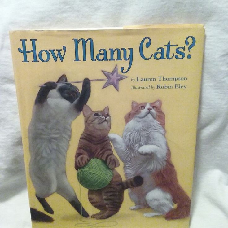 How Many Cats? by Lauren Thompson (2009, Hardcover) Disney Hyperion Books #DisneyHyperionBooks