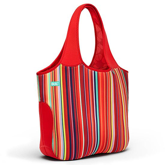 Essential Neoprene Tote - Stripe No 10            , The Essential Neoprene Tote is what you need to go in style with or without your computer. Zippered pocket and two inside pockets are perfect for tablet, files, phones and gadgets.