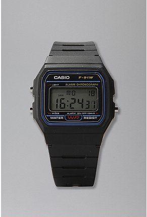 Casio Black Classic http://www.marjoya.com/relojes-todos-los-relojes-relojes-para-hombre-reloj-casio-crono-hombre-f-91w-1yer-p-68.html