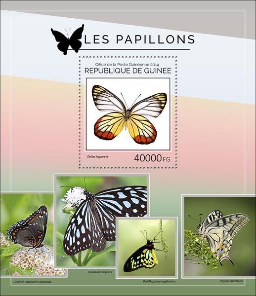 Post stamp Guinea GU 14404 bButterflies (Delias hyparete)