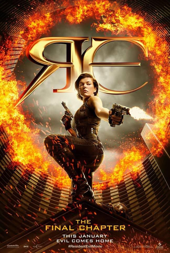 Milla Jovovich sur le poster de Resident Evil - The Final Chapter
