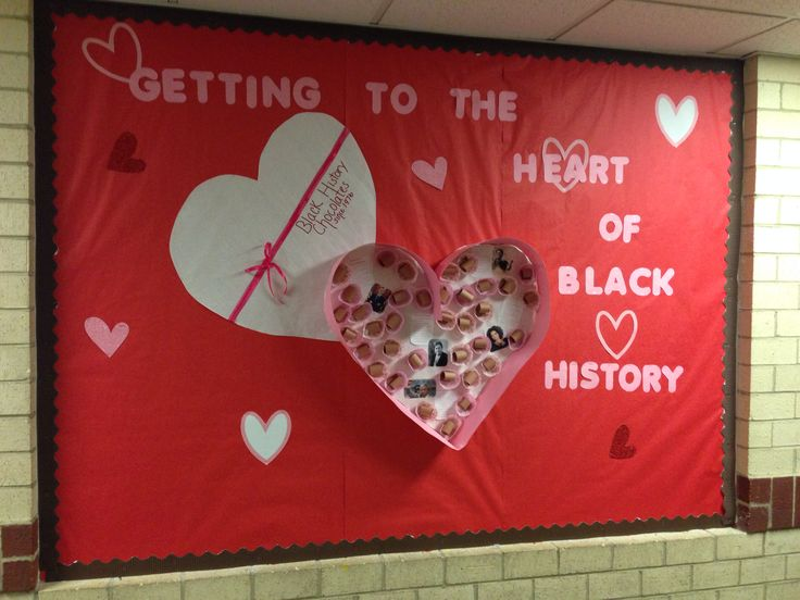 Feb 22nd Valentine Black History Bulletin Board | Check out our blog about celebrating black history month! | http://delphiboston.org/820/
