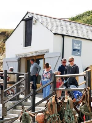 Boat Shed Café, Lulworth Cove sign by Creative-Studios.com
