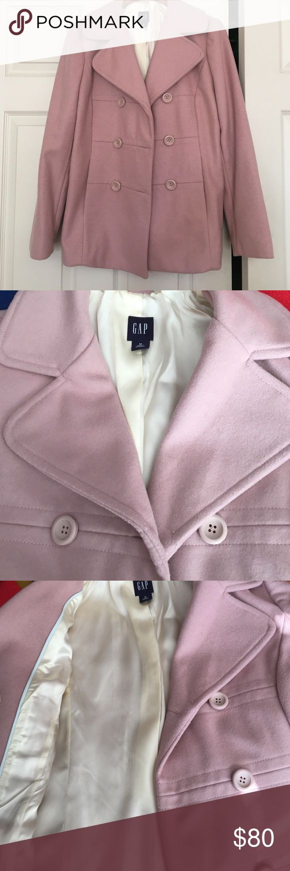 Women's Gap Coat Women's pale pink, Gap, double breasted peacoat with cream lining. Great condition--barely worn. GAP Jackets & Coats Pea Coats
