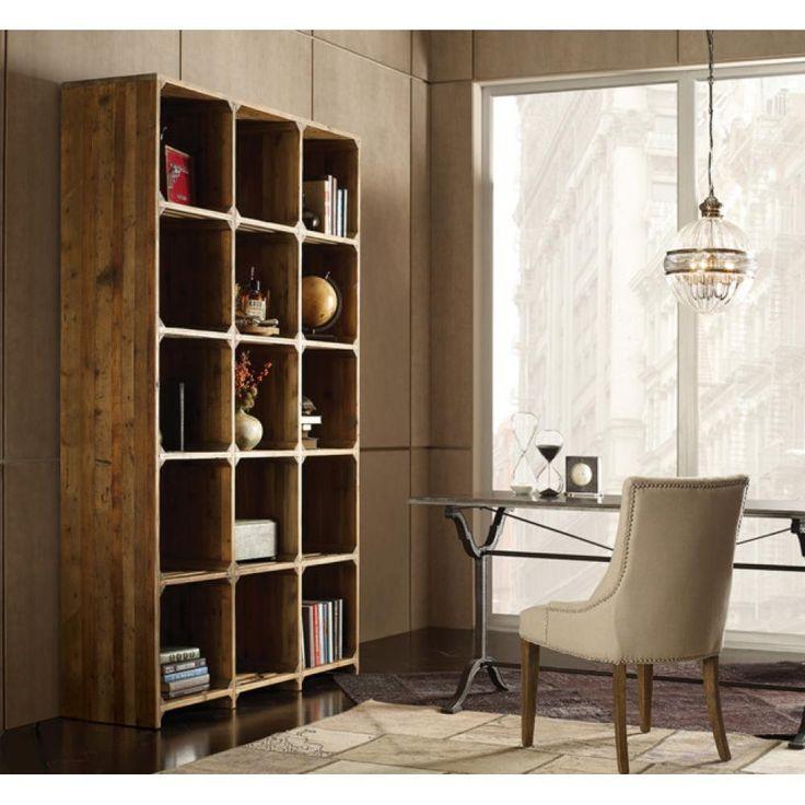 ujrahasznositott bontott fa anyag regi loft szekreny polcos butor regies rusztikus iroda fotel szegecses nyers minimal.jpg (1000×1000)