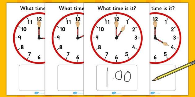 Analogue Clocks Hourly Matching With Hands - This fantastic display is a brilliant way to both teach and reinforce the times shown on an analogue clock!