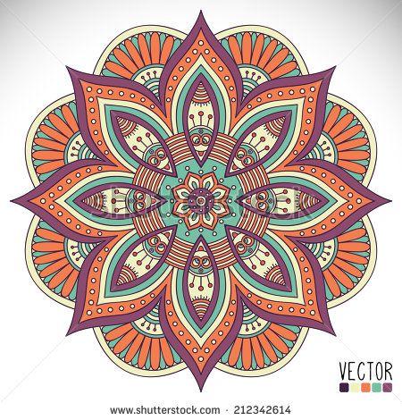 Mandala. Round Ornament Pattern. Vintage decorative elements. Hand drawn background. Islam, Arabic, Indian, ottoman motifs. - stock vector