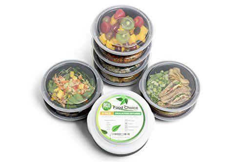 Conteneurs de nourriture circulaires pour la préparation des repas, le contrôle des portions et le stockage de nourriture–Idéal pour les…