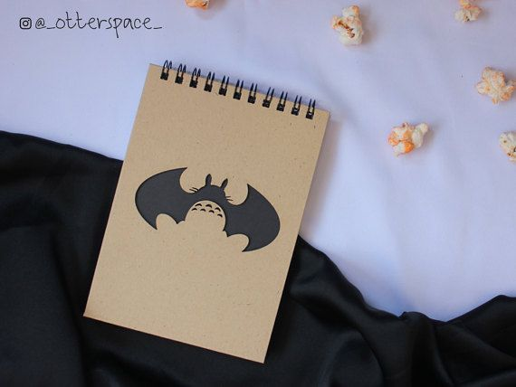 Studio Ghibli Theme Notebook  Batman Totoro by OtterspaceStudio