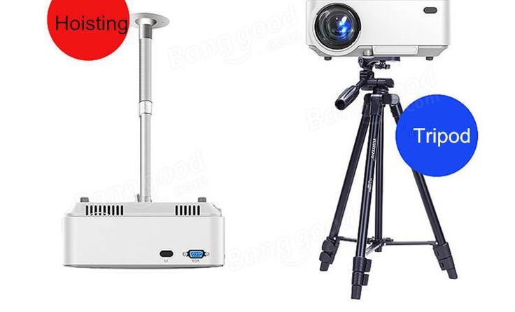 T20  Portable LED 1200 Lumens  Projector Support 1080P Home Theater PC USB HDMI AV VGA SD