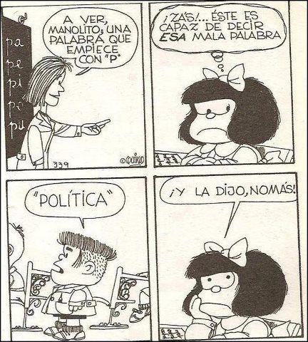 Mala palabra #Manolito #Mafalda Quino