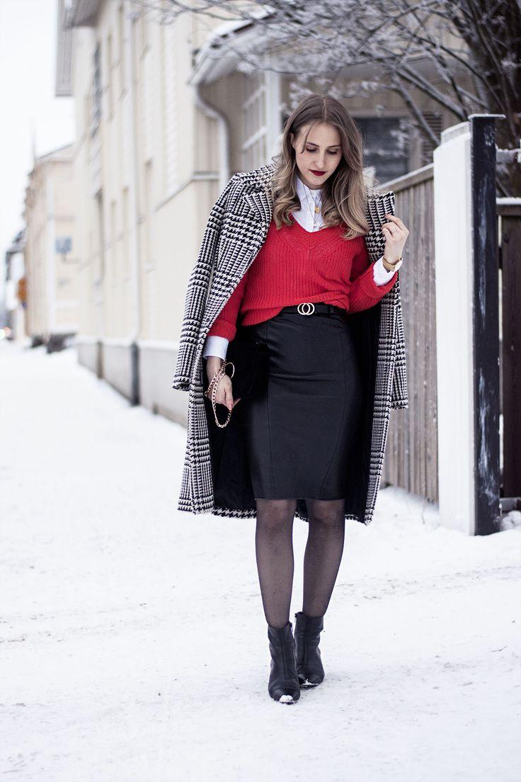 sandraemilia, outfit, knit, pencil leather, skirt, orange, fashionista, feminine, classic, classy, lady, winter,