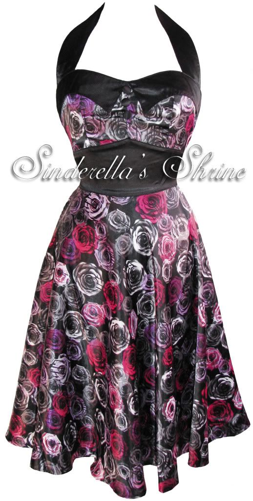 Hell Bunny  Rosie Vera Floral Prom 50s Dress