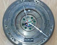 alfa romeo flywheel wall clock