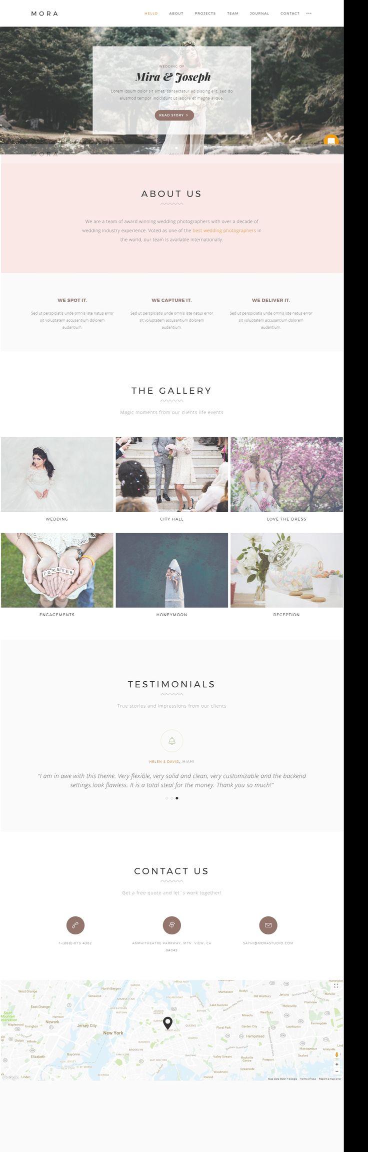 Creative wordpress photography theme