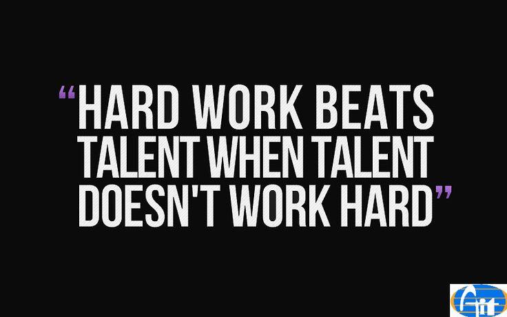 Hard work beats talent when talent fails to work hard. #AIITECH