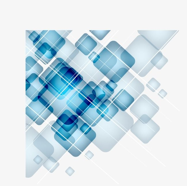 Digital Technology Blue Geometric Squares Gradient Blue Science And Digital Png Transparent Clipart Image And Psd File For Free Download Crystal Background Black Wall Clock Geometric Vector