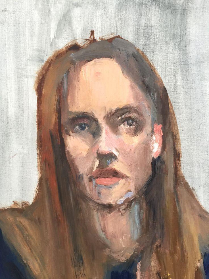 Melissa Mullen - Oil self portrait -study.