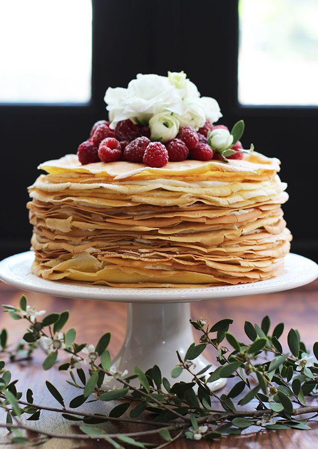 Lemon Mascarpone Crepe Cake for Mother's Day: