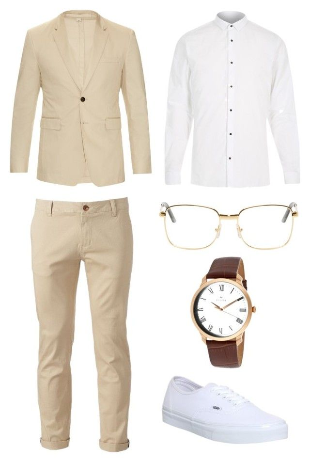 """Vintage Camel"" by justian-edwin-darmawan on Polyvore featuring Burberry, River Island, Chor, Vans, RetroSuperFuture, Bulova, vintage, men's fashion and menswear"