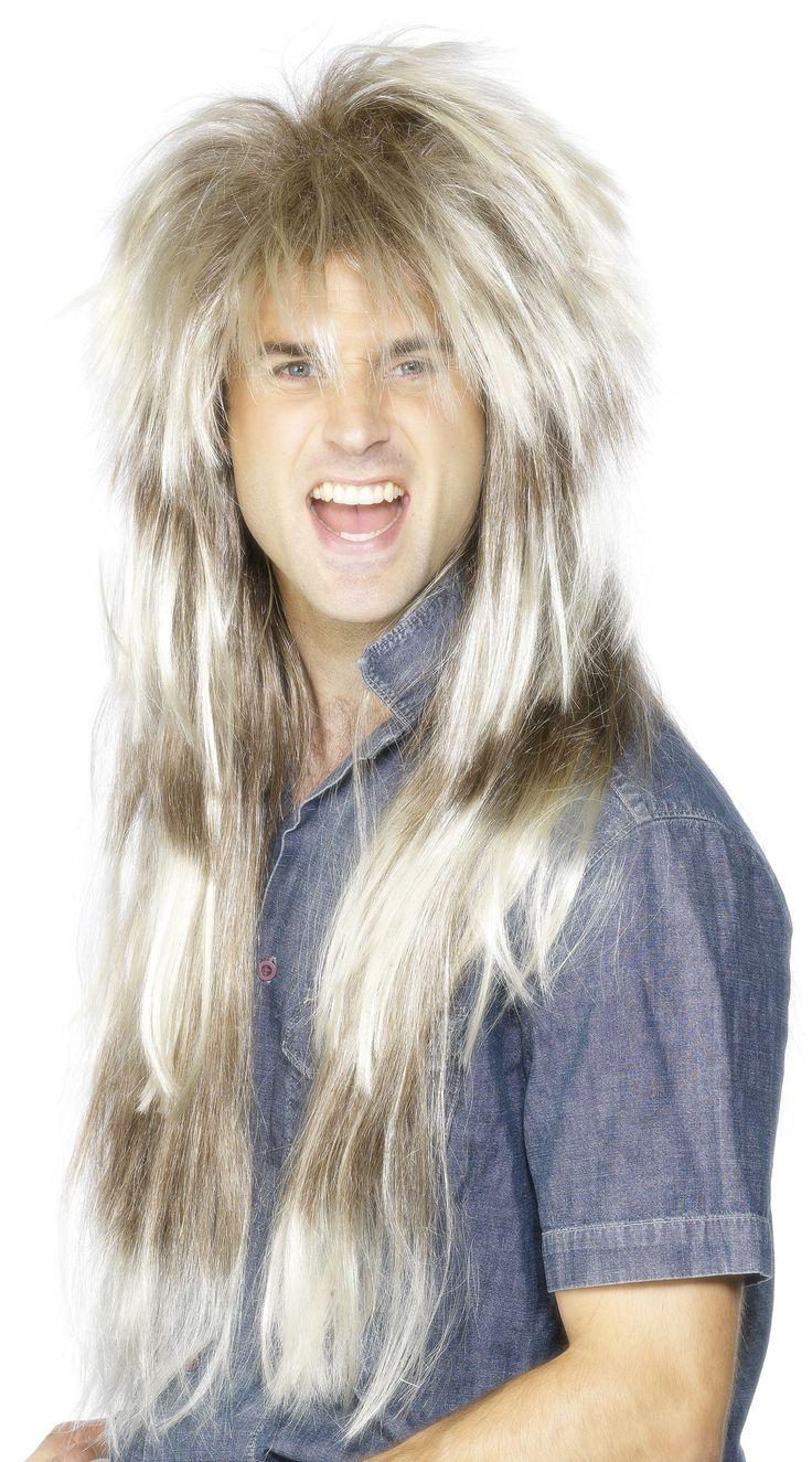 Perruque longue blonde homme : Cette longue perruque blonde de rockeur pour adulte est méchée. Des reflets brillants se trouvent sur toute la longueur. Cette perruque est idéale pour compléter un...