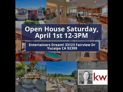 Open House 33123 Fairview Dr Yucaipa CA 92399 This Gorgeous Chapman Heights Golf Community Home is an entertainers dream come true! I am hosting an open House Sat Apr 1st 12-3pm There will be raffling of Dairy Queen Gift cards and refreshments. Stop on by for a visit! Call or text Amber Keith @ Keller Wiliams Realty Buy Or Sell I've Got The Key 909.213.7703