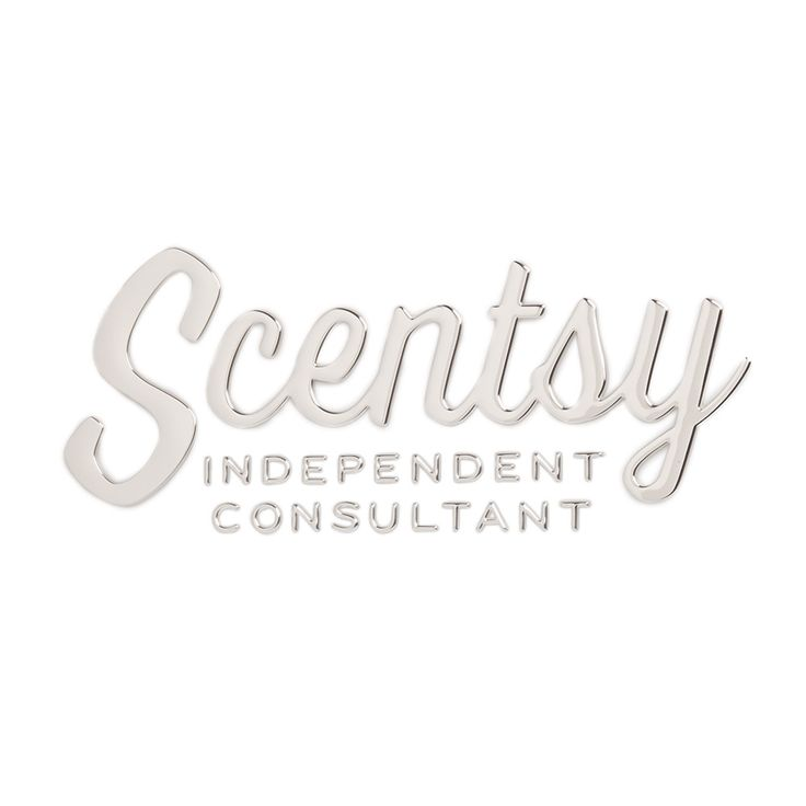 Independent scentsy consultant chrome car emblem scentsy